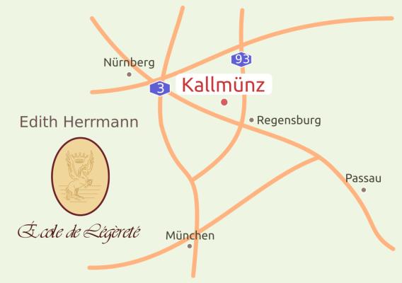 Anfahrt École de Légèreté Kallmünz