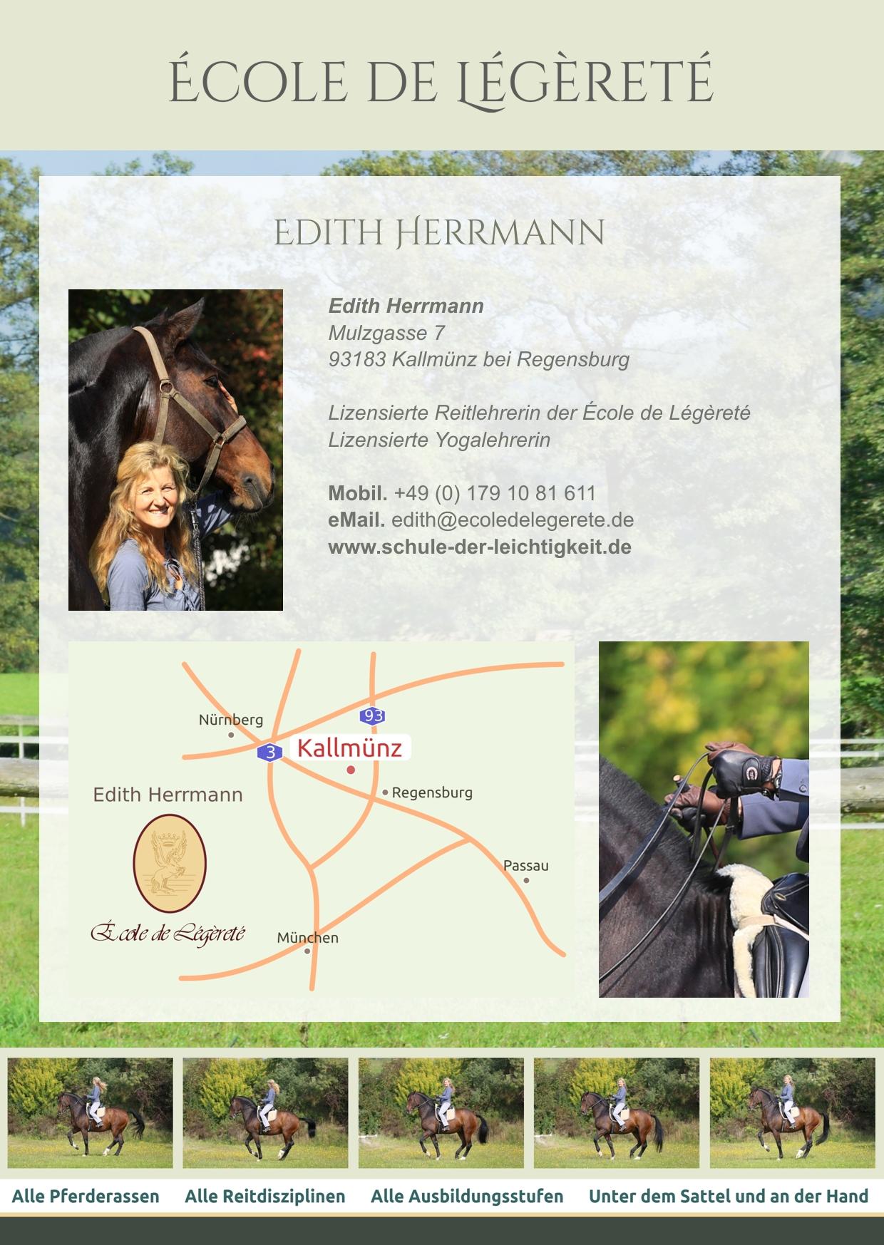 Schule der Légèreté mit Edith Herrmann, Bayern, Regensburg, Ostbayern